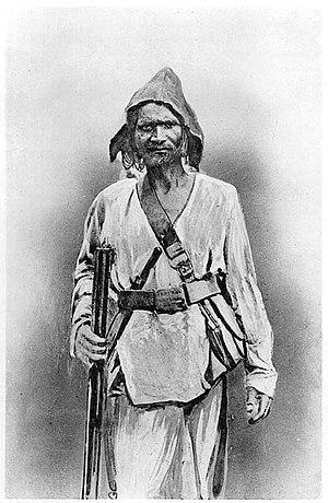Dacoity - A (Tantia Bhil) dacoit with gun