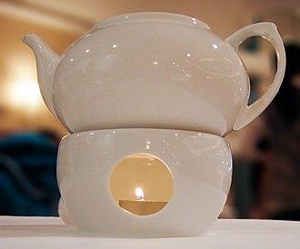Tealight - A tealight warming a teapot