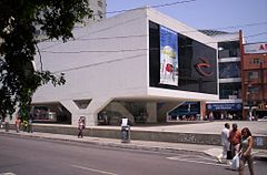 Municipal Library in the city center, designed by Oscar Niemeyer