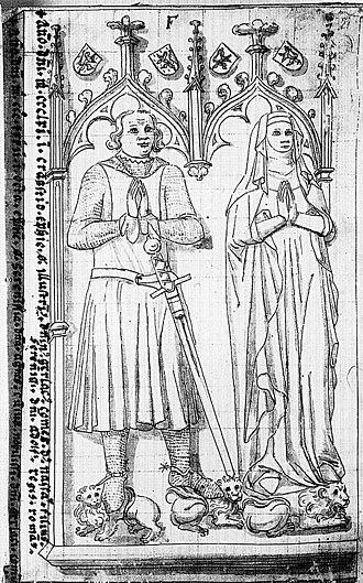 County of Nassau - Image: Tekening van het grafmonument van Gerlach I van Nassau en Agnes van Hessen