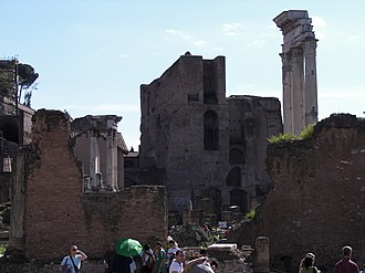Temple of Castor and Pollux - Image: Temple of Castor and Pollux and Temple of Vesta