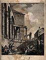 Temple of Jupiter, Spalato (Split). Engraving by F. Bartoloz Wellcome V0014509.jpg