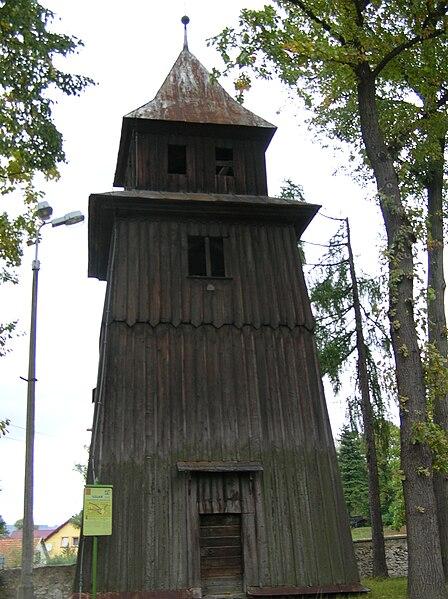 File:Tenczynek. Dzwonnica kosciola sw. Katarzyny, II p. XVIIIw.JPG