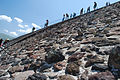 Teotihuacan Pyramid of the sun stairs 1.jpg