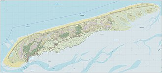 Terschelling - Dutch Topographic map of Terschelling, Dec. 2014