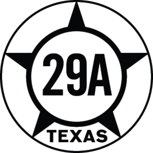 Texas State Highway 29 - Image: Texas Hist SH29A