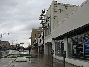 Texas Theatre - The Texas Theatre in Oak Cliff, Dallas, Texas; during renovations in March 2006