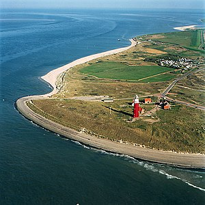 Texel - North end of the island with the Eierland Lighthouse in 2015