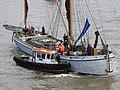 Thames barge parade - about to turn downstream - Reminder 6756c.JPG