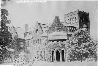 """Mary Sibbet Copley - """"Lyndhurst"""", the Thaw mansion in Pittsburgh, built 1887-89."""
