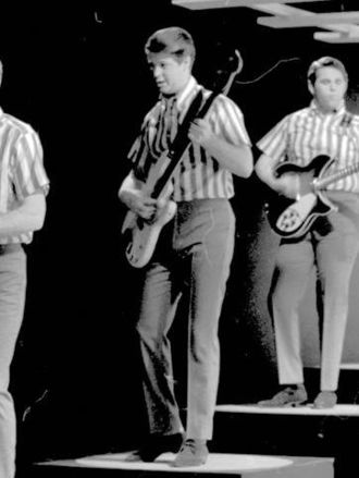 Musicianship of Brian Wilson - Wilson playing electric bass guitar with the Beach Boys in 1964