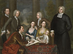 John Smybert - The Bermuda Group (Dean Berkeley and His Entourage), begun in 1728, finished 1739. Yale University Art Gallery