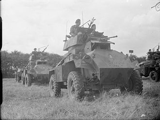 Inns of Court Regiment - Humber Mk I armoured cars of the Inns of Court Regiment on parade at Guisborough in Yorkshire, 19 August 1941