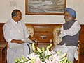 The Chief Minister of Andhra Pradesh, Dr. Y. S. Rajasekhara Reddy meeting with the Prime Minister, Dr. Manmohan Singh, in New Delhi on June 26, 2008.jpg
