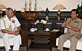 The Commander-in-Chief of Defence Services of the Republic of the Union of Myanmar, General Min Aung Hlaing calls on the Chairman Chief of Staff Committee and Chief of Naval Staff, Admiral Nirmal Verma, in New Delhi.jpg