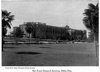 The Doon School - Main building of Doon in 1917, when it was part of the Forest Research Institute.