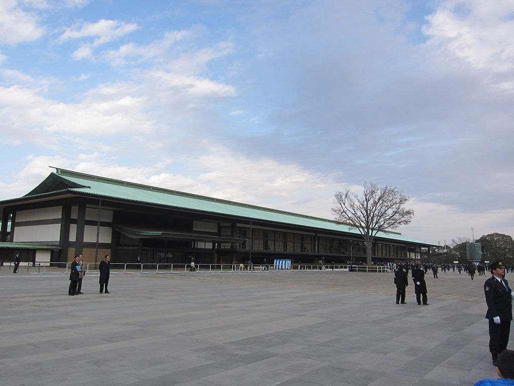 The Imperial Palace of Japan.Kyuden chouwaden