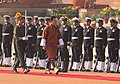 The King of Bhutan, HM Jigme Khesar Namgyel Wangchuck inspecting the Guard of Honour at the ceremonial reception, at Rashtrapati Bhavan, in New Delhi on December 22, 2009.jpg