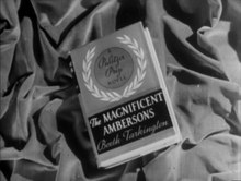 Archivo:The Magnificent Ambersons theatrical trailer (1942).webm