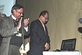 The Minister of State for Agriculture, Consumer Affairs, Food & Public Distribution, Prof. K.V. Thomas launched the integrated website of the Food Corporation of India, in New Delhi on January 14, 2011.jpg