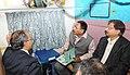 The Minister of State for Railways, Shri Rajen Gohain inspecting the rake of Humsafar Train, in New Delhi on December 09, 2016. The Member Traffic, Railway Board, Shri Mohd. Jamshed is also seen.jpg