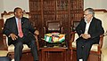 The Nigerian Minister for Works and Architecture, Mr. Mike O. Olomen calls on the Union Minister for Road Transport and Highways, Dr. C.P. Joshi, in New Delhi on February 28, 2012.jpg