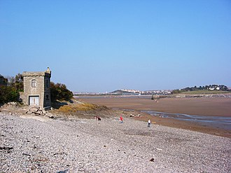 Barry Docks - The Old Harbour, Barry, looking north towards the causeway that was built to Barry Island