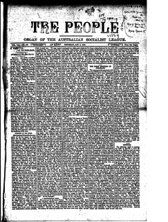 <i>The People: Official Organ of the Australian Socialist League</i>
