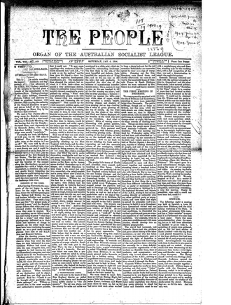 The People: Official Organ of the Australian Socialist League - The People: Official Organ of the Australian Socialist League, 6 January 1906
