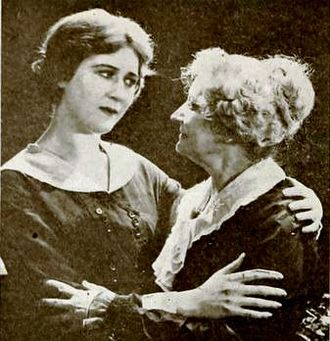 Gertrude Claire - Film still with Mary MacLaren and Gertrude Claire in The Petal on the Current (1919)