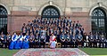 The President, Smt. Pratibha Devisingh Patil with the group of contingent of Nasik Bharat Scouts & guides, at Rashtrapati Bhawan, in New Delhi on February 04, 2010.jpg