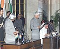 The President Dr.A.P.J.Abdul Kalam administering the Oath (Minister of State) to Shri Ashwani Kumar, in New Delhi on January 29,2006.jpg