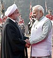 The President of the Islamic Republic of Iran, Dr. Hassan Rouhani being received by the Prime Minister, Shri Narendra Modi, at the Ceremonial Reception, at Rashtrapati Bhavan, in New Delhi on February 17, 2018.jpg