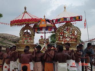 Trincomalee - Procession of Koneswaram idol pooja in Trincomalee city