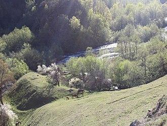 Pshavi - The Pshavis Aragvi river, located within the Pshav-Khevsureti National Park, Mtskheta-Mtianeti region, Georgia