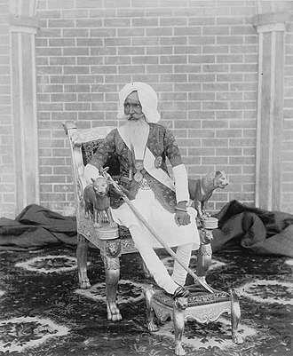 Hira Singh Nabha - Photograph of Sir Hira Singh Gosal, the Raja of Nabha, taken by an unknown photographer in the 1890s.