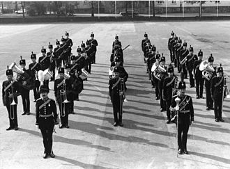 Royal Artillery Mounted Band - The Royal Artillery Mounted Band, under the command of its Director of Music, Captain Brian Hicks, R.A. at West Riding Barracks, Dortmund