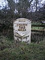 The Windley milepost - detail - geograph.org.uk - 1703945.jpg
