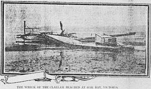 Clallam (steamboat) - Remains of the Clallam, in June 1904