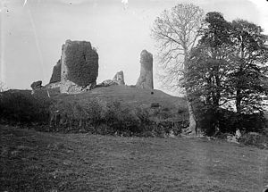 Narberth Castle - The ruins in about 1885