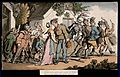 The dance of death; the recruit. Coloured aquatint by T. Row Wellcome V0042011.jpg