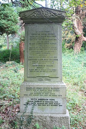 Charles Murray, Lord Murray - The grave of Charles Murray, Lord Murray, Warriston Cemetery