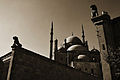 The great Mosque of Muhammad Ali Pasha or Alabaster Mosque (rare view). Cairo, Egypt, North Africa.jpg
