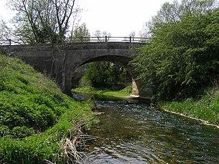 Kates Bridge Landmark settlement on the A15 road, in the parish of Thurlby