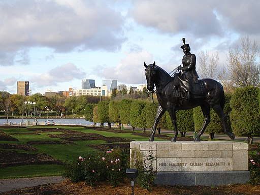 The statue of Queen Elizabeth II in Regina, Saskatchewan