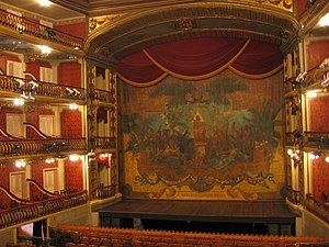 Eugène Carpezat - Carpezat's preserved stage curtain of the Theatro da Paz in Belém (Brazil), 1889.
