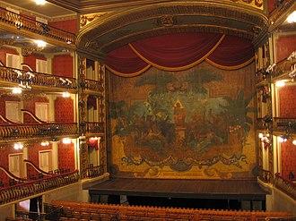 Eugène Carpezat - Carpezat's preserved stage curtain of the Theatro da Paz in Belém (Brazil), 1889.