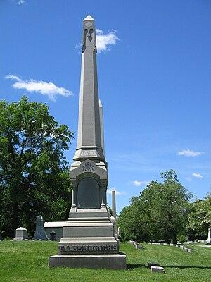 Thomas A. Hendricks - The tomb of Thomas Hendricks in Indianapolis, Indiana