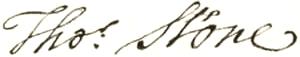 Thomas Stone - Image: Thomas Stone signature