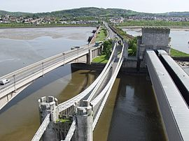 Three bridges across the river Conwy.jpg
